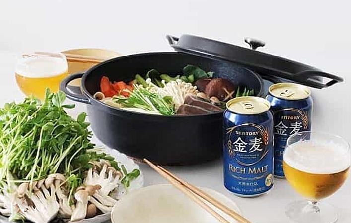 冬の鍋料理と金麦でほっこり愉しむ「#藍のある食卓」