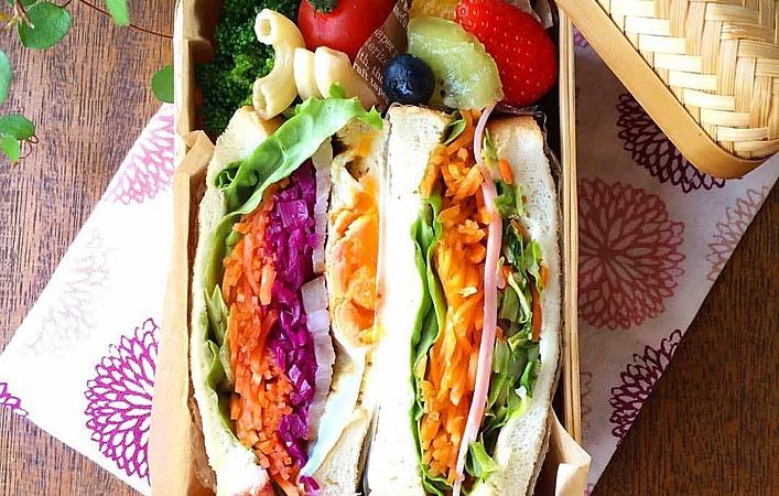 木村文乃さんに学ぶ、サンドイッチは竹かご弁当に詰めちゃおう