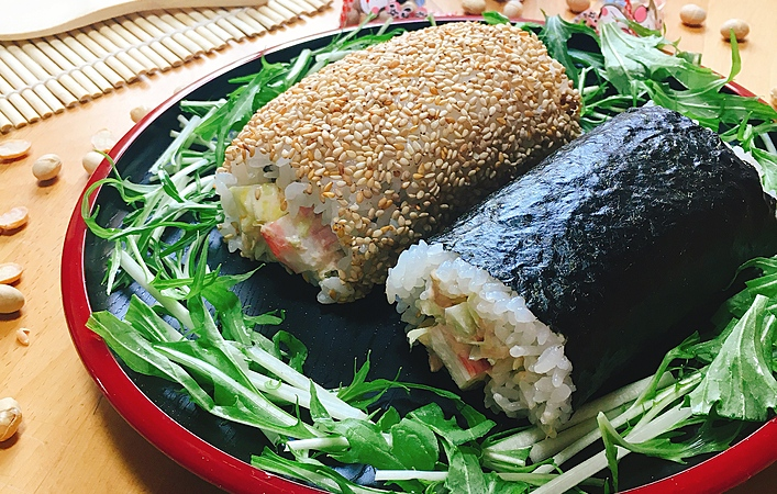 【おうちカフェレシピ】節分に食べたい、気軽に作れるサラダ恵方巻き