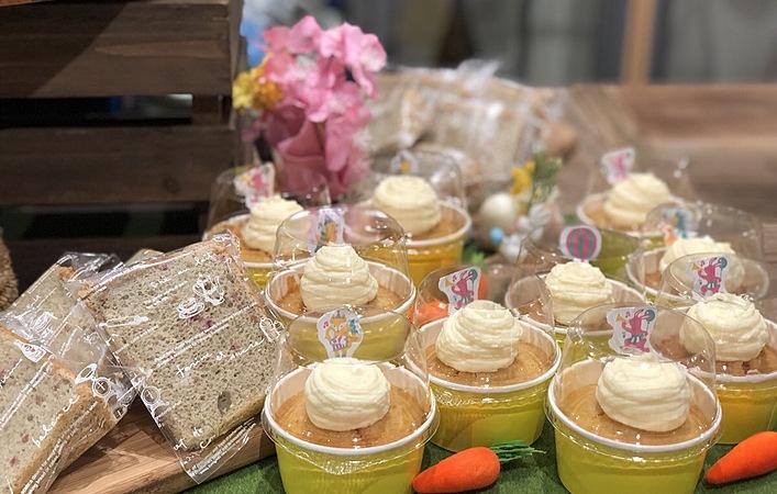 【おうちカフェレシピ】白砂糖不使用!米粉のもっちりキャロットケーキ