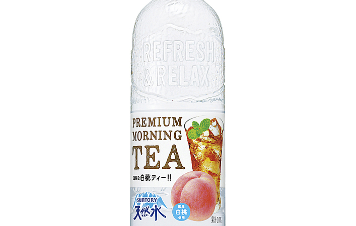 サントリー天然水から果汁感じる「透明な白桃ティー」が新登場!活用レシピも公開中
