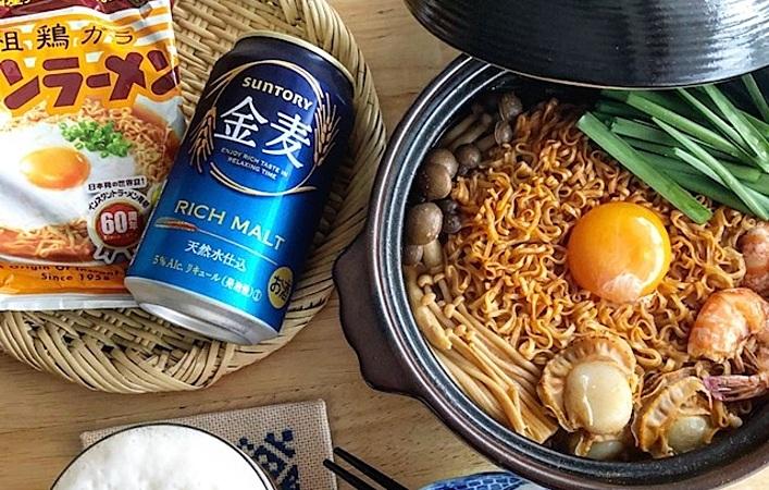 金麦と鍋を愉しむ藍のある食卓に、〆メニューの新定番「#チ金麦鍋」はいかが?