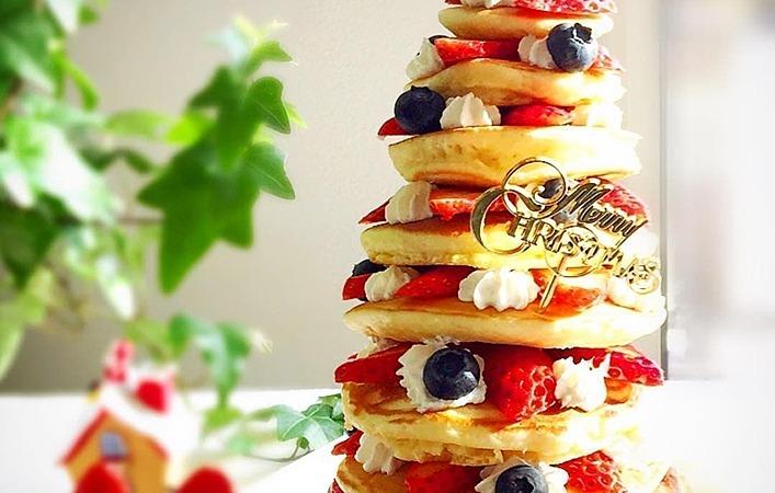 簡単かわいい!パンケーキでつくるクリスマスはいかが?パンケーキツリー編