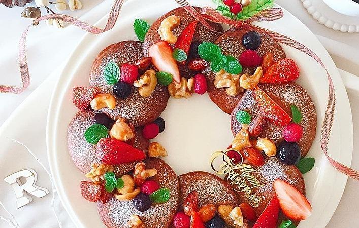 簡単かわいい!パンケーキでつくるクリスマスはいかが?リースパンケーキ編