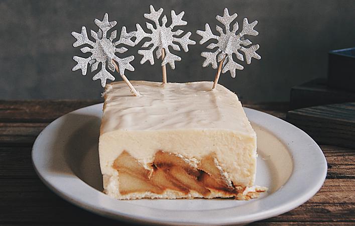冬はおうちで濃厚スイーツを。りんごがごろごろ「NYチーズケーキ」を作ろう!