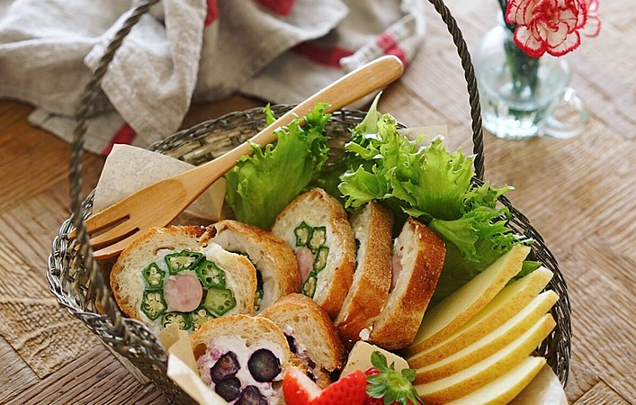 新生活シーズンに作りたい!断面萌えのパン弁当でランチを楽しく!
