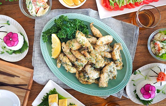 【あゆのこどもごはん】 ハレの日のお祝いはみんな大好き「のり塩チキン」で!