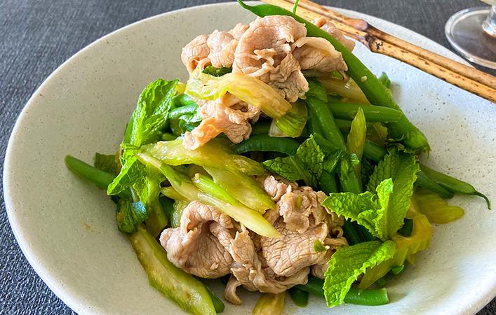 【からだケアレシピ】梅雨の養生に「豚しゃぶといんげんの和えサラダ」