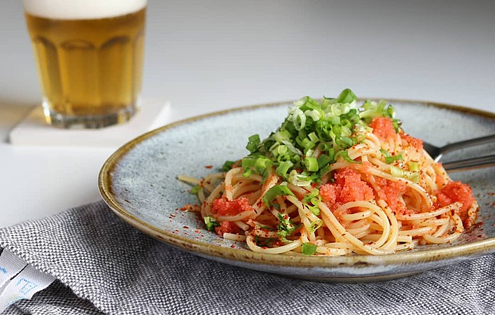 【ぐっちのおさけじかん】Vol.18 鉄板夏麺!「明太子とごま油の冷製パスタ」