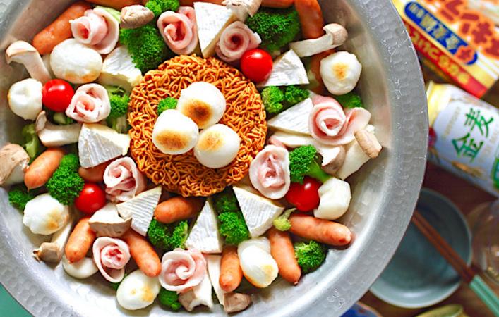 冬の金麦で楽しむチ金麦鍋。今年はたまごポケットに好きな食材を入れて楽しもう!