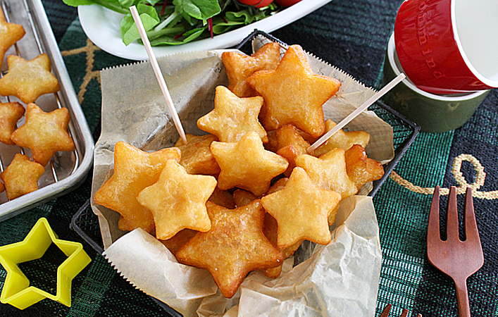 【あゆのこどもごはん】クリスマスの食卓がグンとかわいく!「もちもち星ポテト」