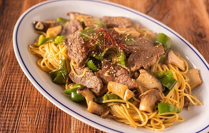 【もてなしオトコメシ】がっつりわんぱくなパスタ「焼肉のスパゲッティ」