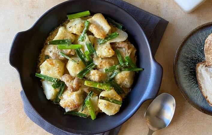 【からだケアレシピ】胃腸ケアと乾燥に「鶏肉と里芋の和風グラタン」