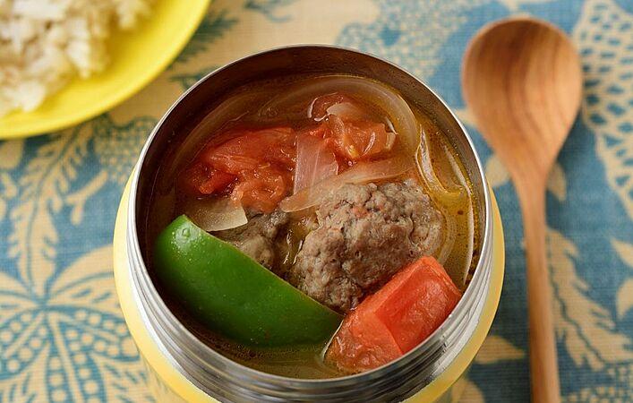 おいしくて太らない!朝1~3分煮るだけ、低糖質&高たんぱくのスープジャー弁当