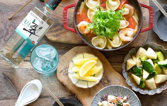 居酒屋メシに合う!おうちで「#翠ジンソーダ」を食事と一緒に楽しんでみませんか?