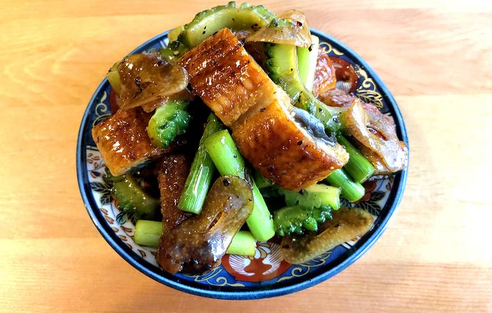 【ちゃみのおうち和ごはん】「鰻とゴーヤのスタミナ炒め」で暑い夏を乗り切ろう!