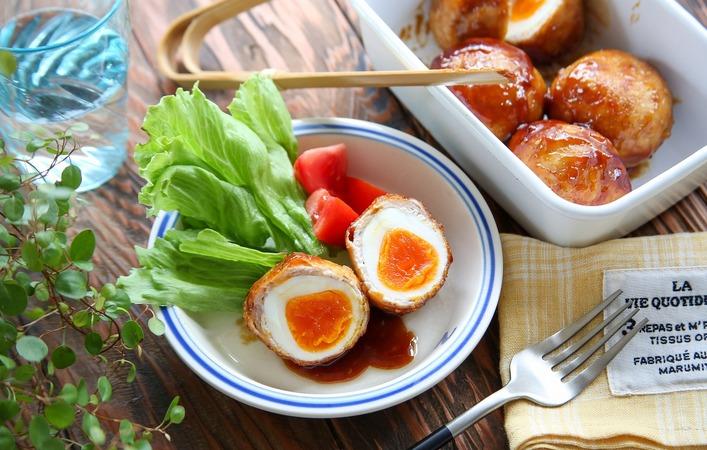 【あゆの簡単スポ飯】材料4つで超簡単!高タンパクな優秀おかず「肉巻き半熟卵」