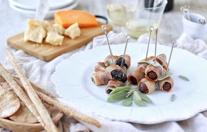 【イタリアマンマのおうちごはん】「栗とプルーンの生ハムボッコンチーニ」
