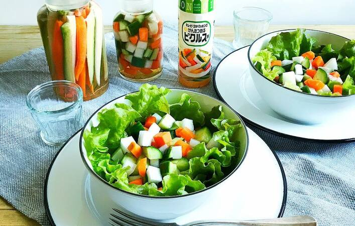 パーティーにも活躍。短い漬け時間で野菜のおいしさを楽しめる「サラダピクルス」