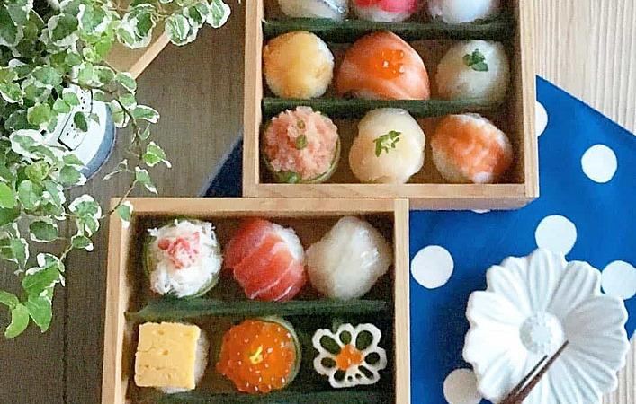 ホームパーティーに、休日ごはんにぴったり。人気の手まり寿司スタイリング
