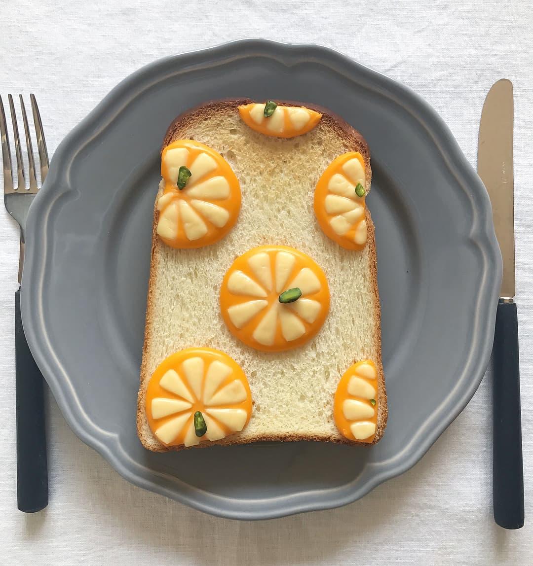 ぷっくり果肉がジューシーなオレンジ柄(難易度★★★)