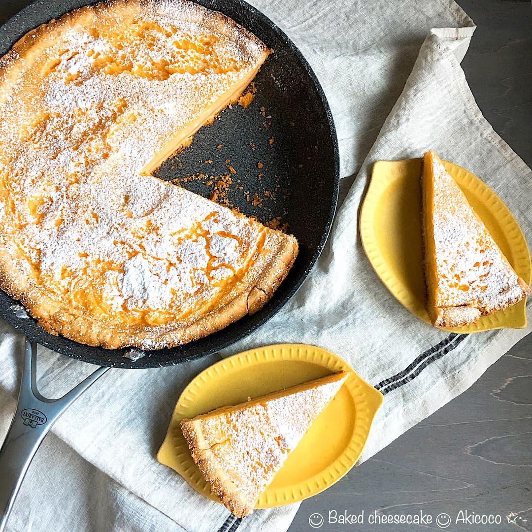 で ケーキ フライパン 作る チーズ