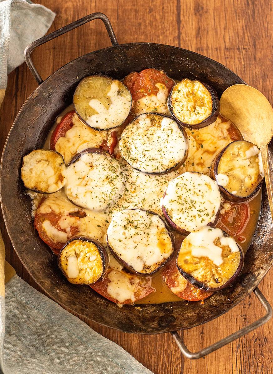 の 焼き と トマト なす チーズ